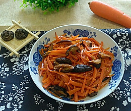胡萝卜丝炒香菇(拿手菜)的做法