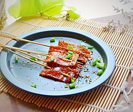 #硬核菜谱制作人#烤豆腐皮的做法