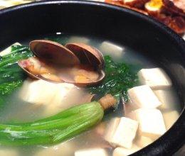 蛤蜊豆腐汤的做法
