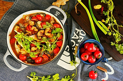 #肉食者联盟#小番茄红烧清江鱼