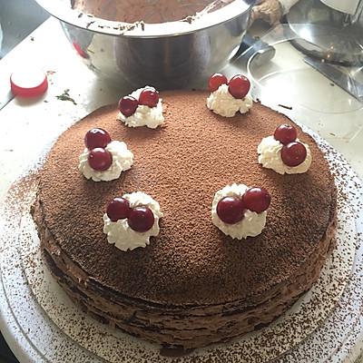 香浓巧克力千层蛋糕