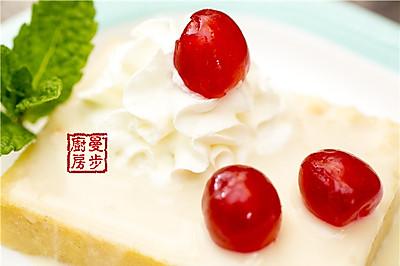 【曼步厨房】Tres Leches Cake 三奶蛋糕