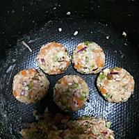 土豆米饭蔬菜饼~满满的满足感的做法图解5