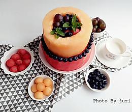 水果伪蛋糕的做法