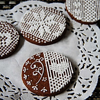 【手绘蕾丝饼干】可爱的你。可曾有一个美丽的梦的做法图解26