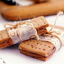 花生巧克力夹心饼干