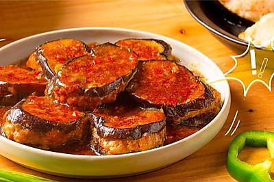 【酿茄子】秋天的茄子,和肉一起烧最合适!