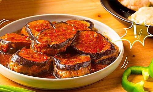 【酿茄子】秋天的茄子,和肉一起烧最合适!的做法