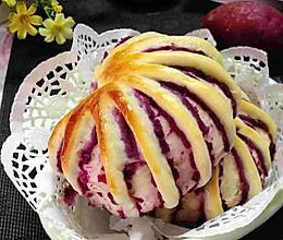 无油无糖紫薯花卷面包的做法