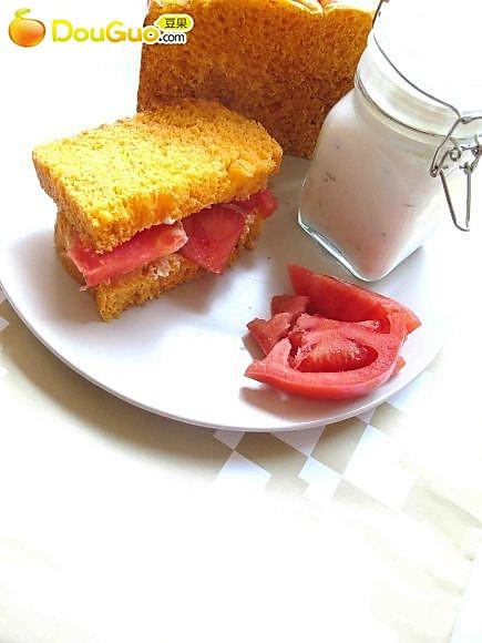 番茄面包的做法