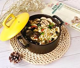 松露土鸡汤菌菇面的做法