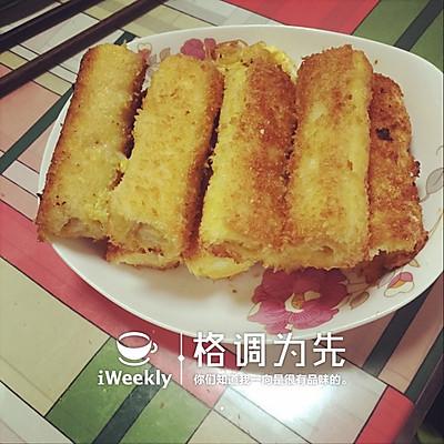 虾仁吐司卷