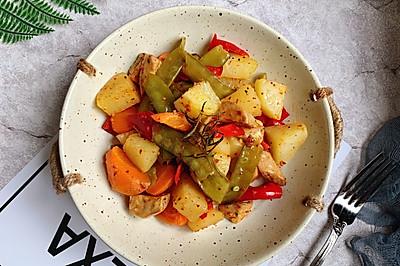 #520,美食撩动TA的心!#香烤什锦蔬菜