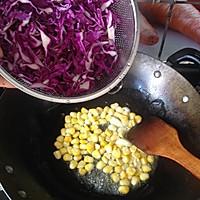 素食之— —清炒紫甘蓝的做法图解4