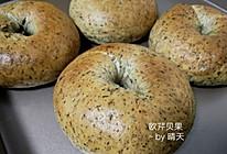 #春季减肥,边吃边瘦#欧芹贝果面包的做法