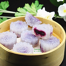 紫薯水晶饼#樱花味道#