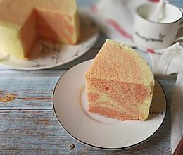 粉色斑马纹戚风蛋糕的做法