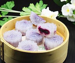 紫薯水晶饼#樱花味道#的做法