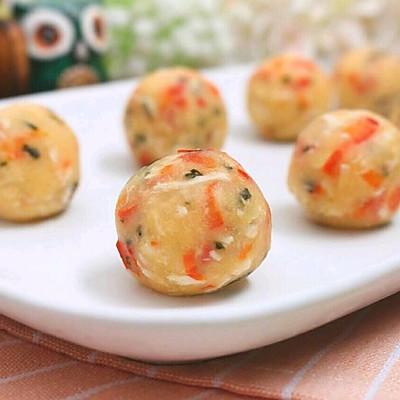 土豆鸡丝小丸子 宝宝健康食谱