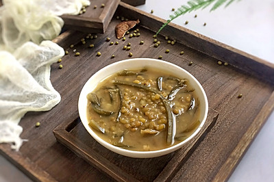 消暑佳品: 陈皮海带绿豆沙