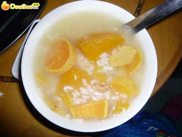 虾仁蜜桃粥的做法