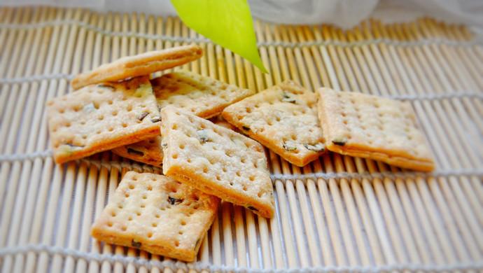 香葱饼干:酥脆化渣#花10分钟,做一道菜!#