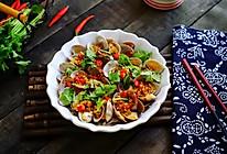 香辣花蛤拌金针菇的做法