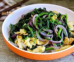 菠菜洋葱炒鸡蛋的做法