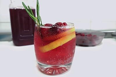 家常版~蔓越莓玫瑰荔枝白兰地鸡尾酒