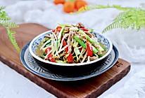 #我们约饭吧#肉丝炒豆芽韭菜的做法
