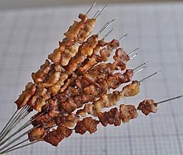 #硬核菜谱制作人#烤箱版香喷喷的烤肉串的做法