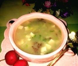 吕梁临县特色小白菜炖豆腐的做法