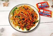 #换着花样吃早餐#三色小炒,简单营养更健康的做法