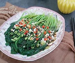 #花10分钟,做一道菜!# 蒜香鸡毛菜的做法