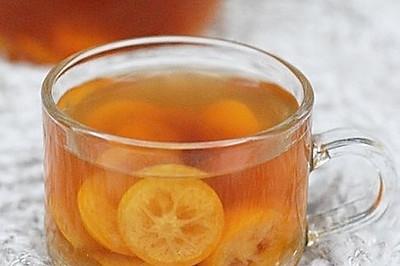 润喉止咳预感冒的罗汉果金橘水