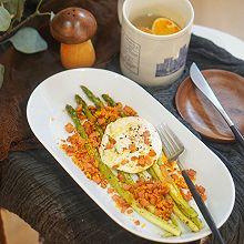健身食谱|烤芦笋培根煎蛋,芦笋的正确打开方式