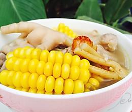 粤式秋冬滋补汤--板栗玉米鸡脚老火汤的做法