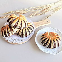豆沙面包圈#蒸派or烤派#