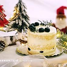 圣诞蓝莓蛋糕#令人羡慕的圣诞大餐#