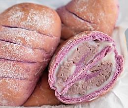 麻薯芋泥软欧包的做法