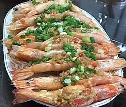蒜蓉虾蒸粉丝的做法