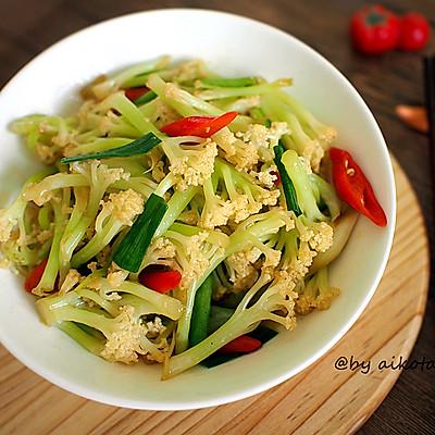 下饭菜|干煸有机花菜|素菜也可以很下饭哟