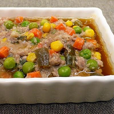 彩蔬酱菜蒸肉饼 ★蒸肉饼4