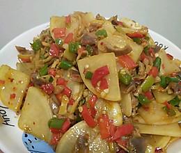 酸萝卜炒鸡胗-酸酸辣辣超下饭又低卡的做法