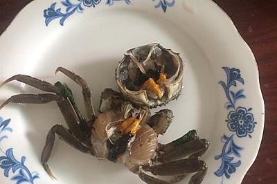 盐水腌螃蟹