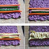 紫薯寿司的做法图解6