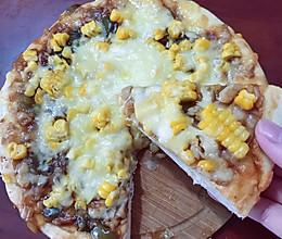 玉米蘑菇披萨的做法