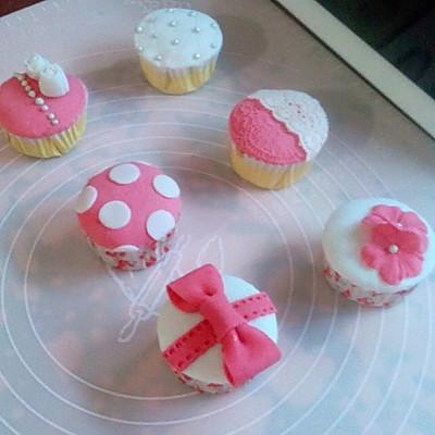 翻糖公主系列杯子蛋糕