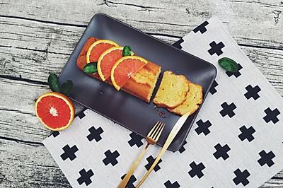 清爽湿润的血橙磅蛋糕