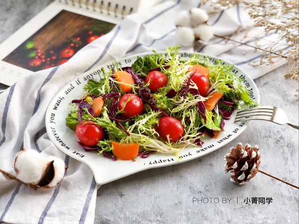 缤纷香醋蔬菜沙拉的做法